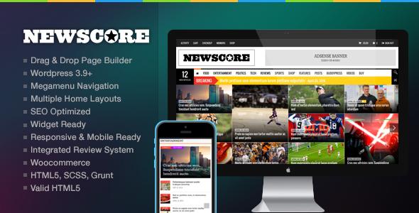 NewsCore - Ein Blog, Magazin und News Template für WP