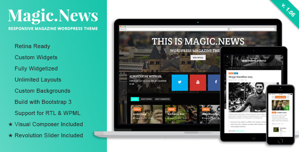 MagicNews - Responsives WordPress Magazin Vorlage