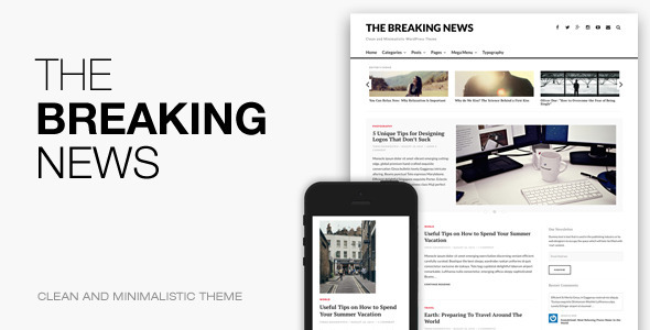 Die Breaking News - Responsives WordPress Layout