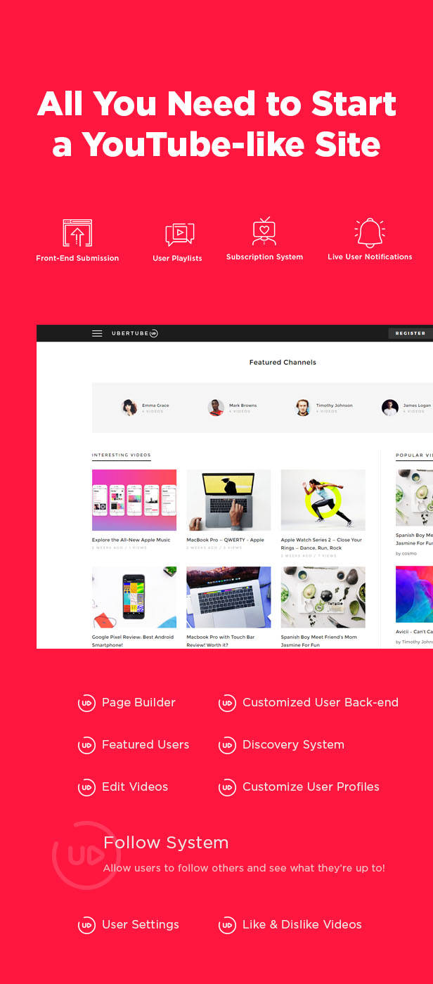 UberTube - Video WordPress Layout