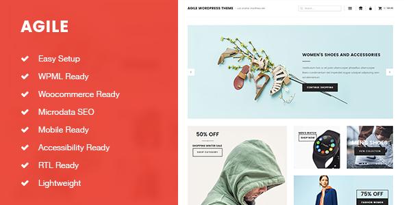 Wordpress Shop Template Agile Lightweight Blogging and Shopping WordPress Theme