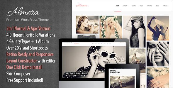 Wordpress Kreativ Template Almera | Model Agency & Photo Portfolio WordPress Theme