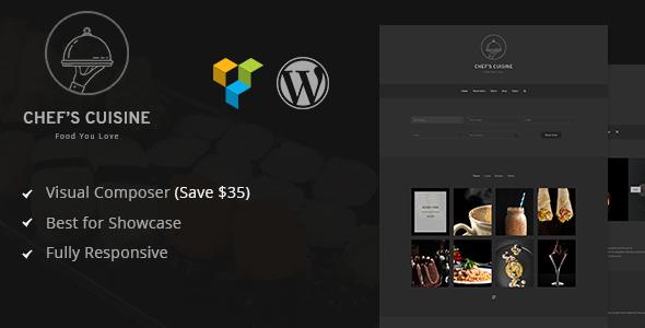 Chef's Cuisine - minimalistisches Restaurant Reservierung WordPress Template