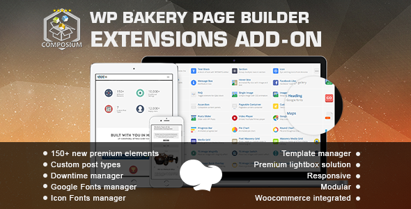 Wordpress Add-On Plugin Composium - WP Bakery Page Builder Extensions Addon (formerly for Visual Composer)