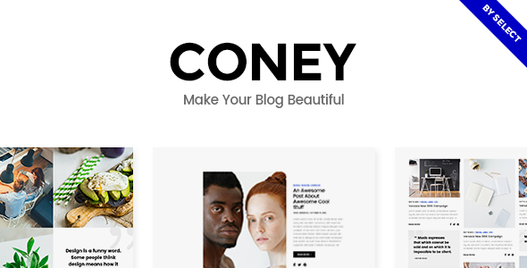 Wordpress Blog Template Coney - A Trendy Theme for Blogs and Magazines