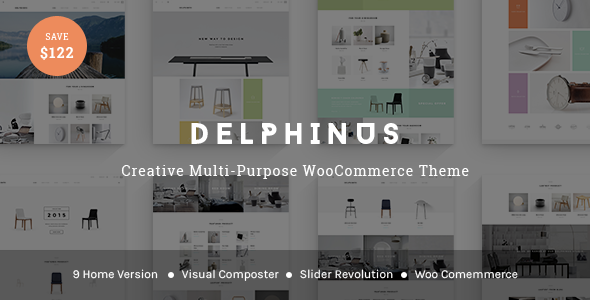 Wordpress Shop Template Delphinus - Creative Multi-Purpose WooCommerce Theme