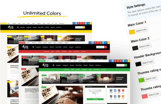 Wordpress Blog Template The Frog = Creative News / Blog Magazine & Front-end Submission WP Theme
