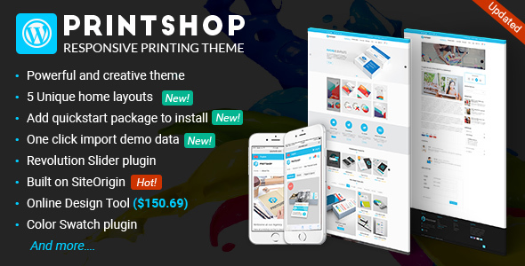 Wordpress Shop Template Printshop - WordPress Responsive Printing Theme