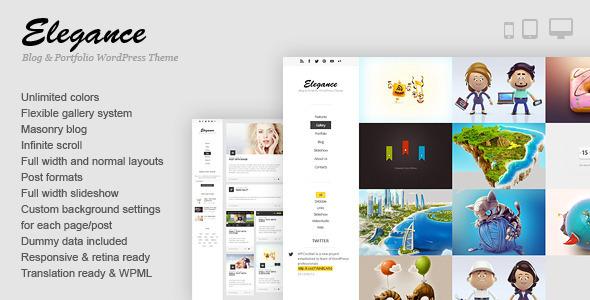 Wordpress Kreativ Template Elegance - Responsive Portfolio WordPress Theme