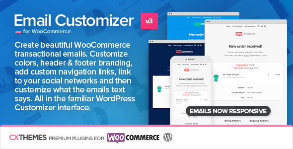 Wordpress E-Commerce Plugin Email Customizer for WooCommerce