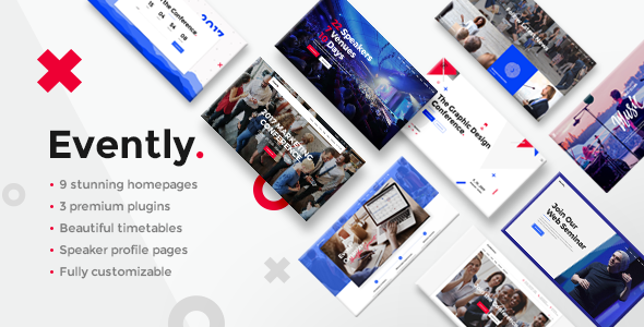 Wordpress Entertainment Template Evently - A Modern Multi-Concept Event and Conference Theme