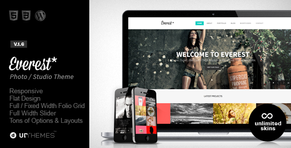 Wordpress Kreativ Template Everest - Responsive Portfolio WordPress Theme