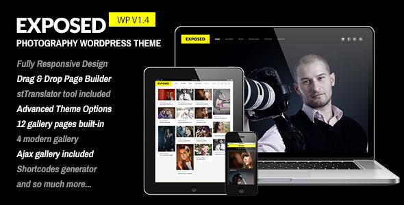 Wordpress Kreativ Template Exposed - Responsive WordPress Photography Theme