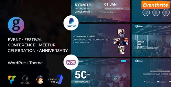 Konferenz / Meetup / Festival Veranstaltung WordPress Template | G-Event WP Thema