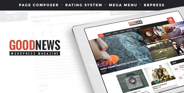 Wordpress Blog Template GoodNews - The News, Magazine and Blog Theme