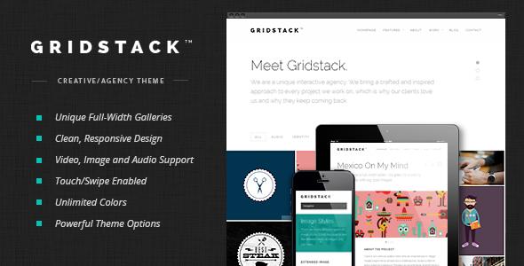 Wordpress Kreativ Template GridStack - Responsive Agency WordPress Theme