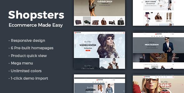 Wordpress Shop Template Shopsters - Multiconcept Ecommerce WordPress Theme