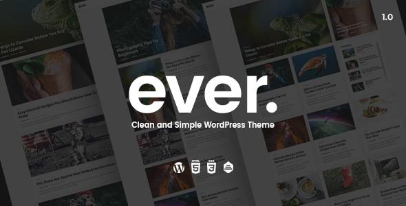 Wordpress Blog Template Ever - Clean and Simple WordPress Theme
