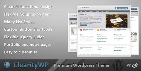 Wordpress Corporate Template Clearity WP