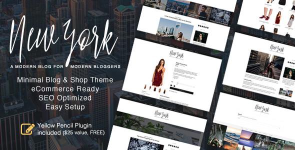 Wordpress Blog Template New York - WordPress Blog & Shop Theme