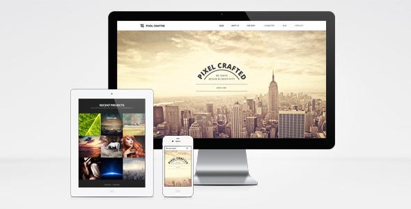 Wordpress Kreativ Template Pixel Crafted WordPress Theme