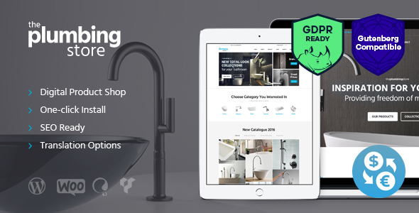 Wordpress Shop Template Plumbing and Building Parts, Tools & Accessories Store WordPress Theme