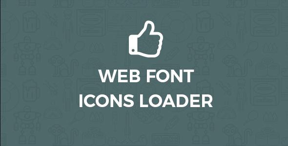 Schriftart-Symbole für WordPress Loader
