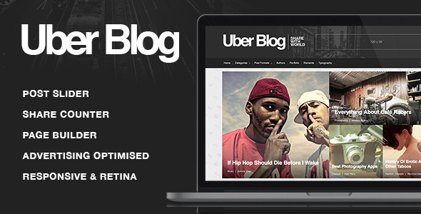 Wordpress Blog Template Uber Blog - Blog WordPress Theme