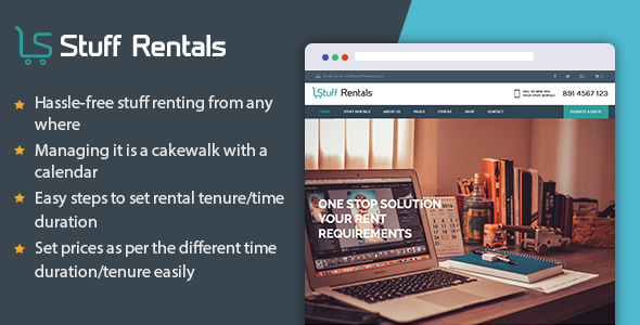 Wordpress Shop Template WP Stuff Rentals - Rent Out Anything