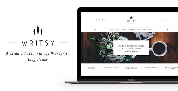 Writsy Ein Sauberes Verblasstes Vintage Wordpress Blog Template
