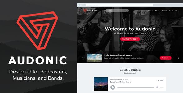 Audonic - Musik & Podcasting WordPress Template