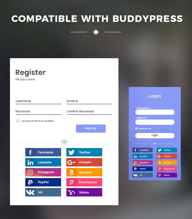 Kompatibel mit BuddyPress