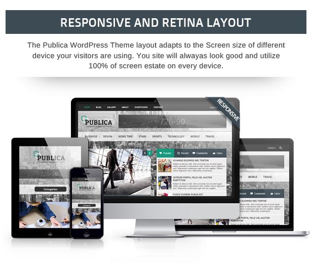 Publica Responsives WordPress Vorlage