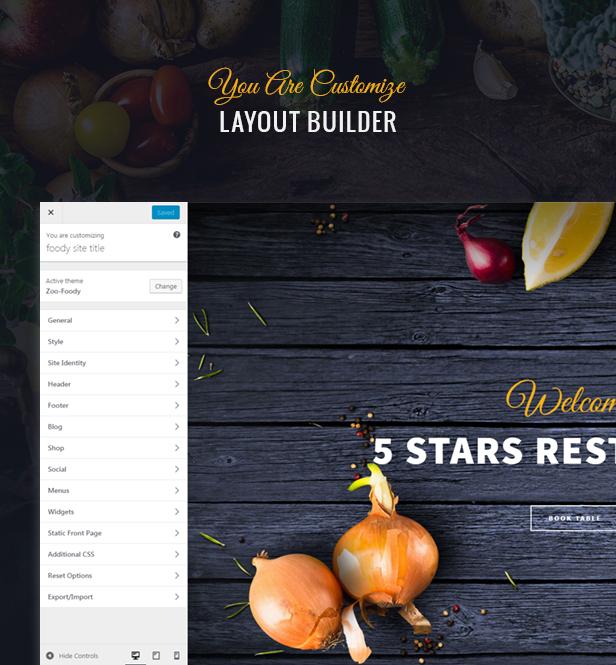 Foody - Luxus Restaurant WordPress Template