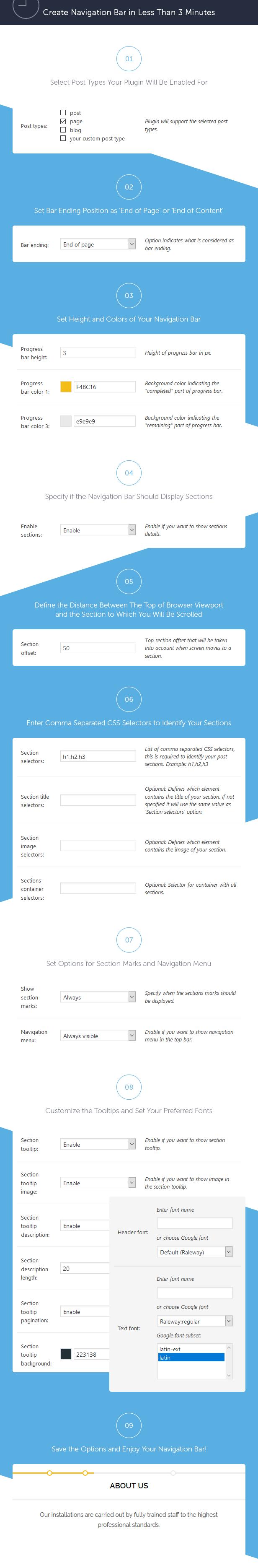 Site Content Navigator für WordPress