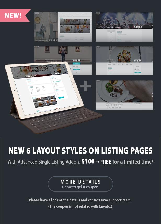 Javo Verzeichnis WordPress Layout