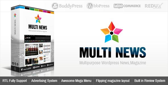 Multinews - Mehrzweck WordPress News, Magazin