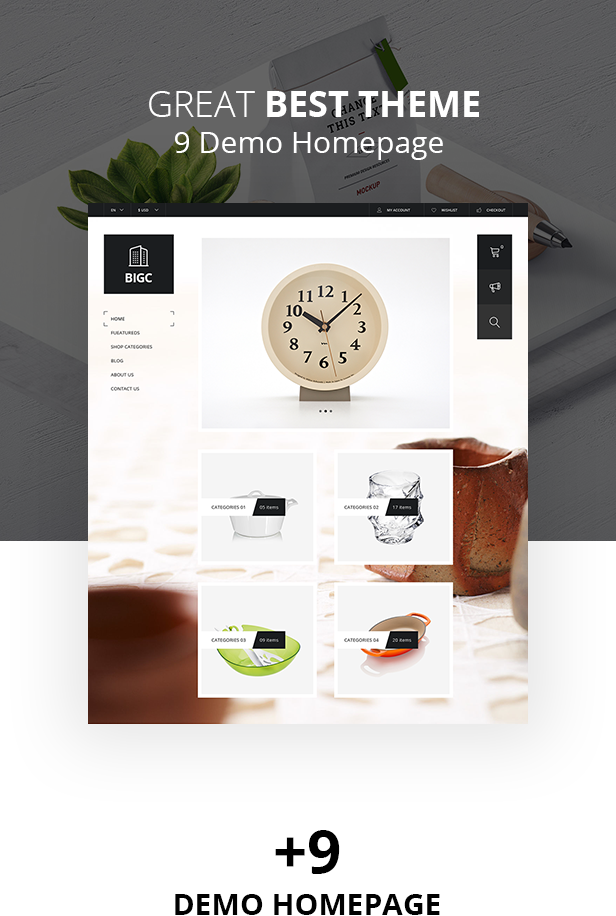 Big Shop - Möbel RTL Responsive WooCommerce WordPress Vorlage