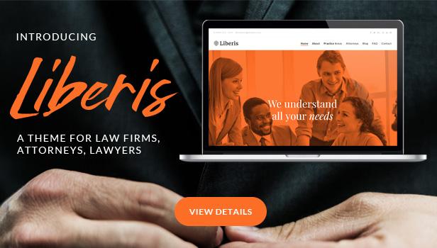 Liberis - Law Firm Attorney WordPress Vorlage