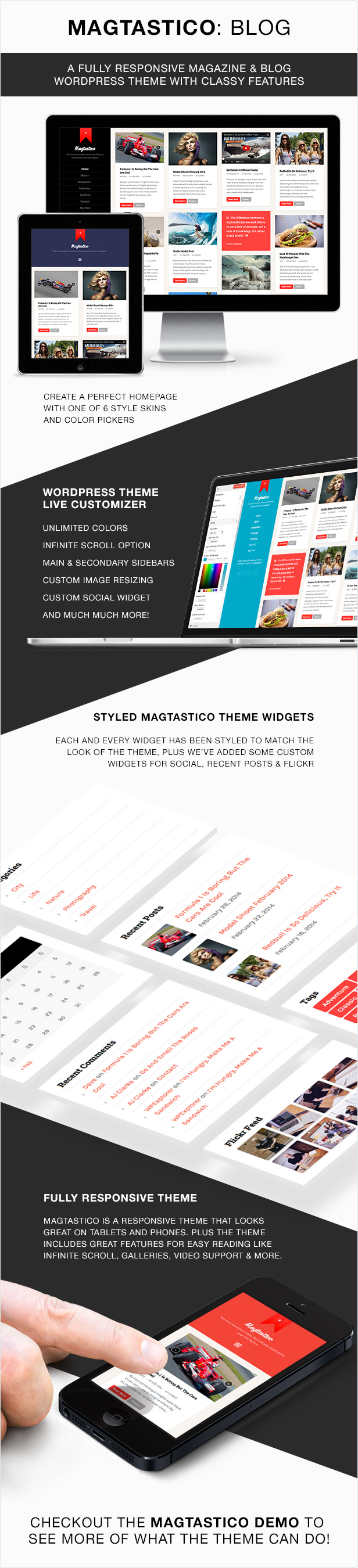 Magtastico WordPress Layout Features