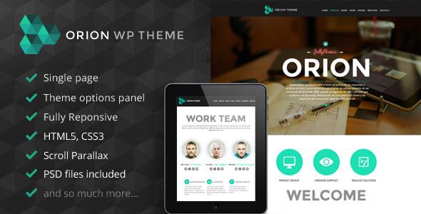 Orion - Responsive One Page Wordpress-Vorlage