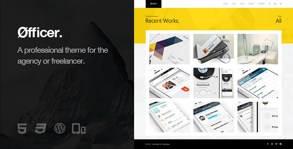 Øfficer - Responsives WordPress Layout