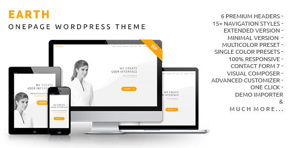 Erde - OnePage WordPress Template