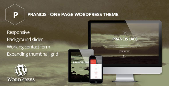Prancis - Eine Seite WordPress Vorlage