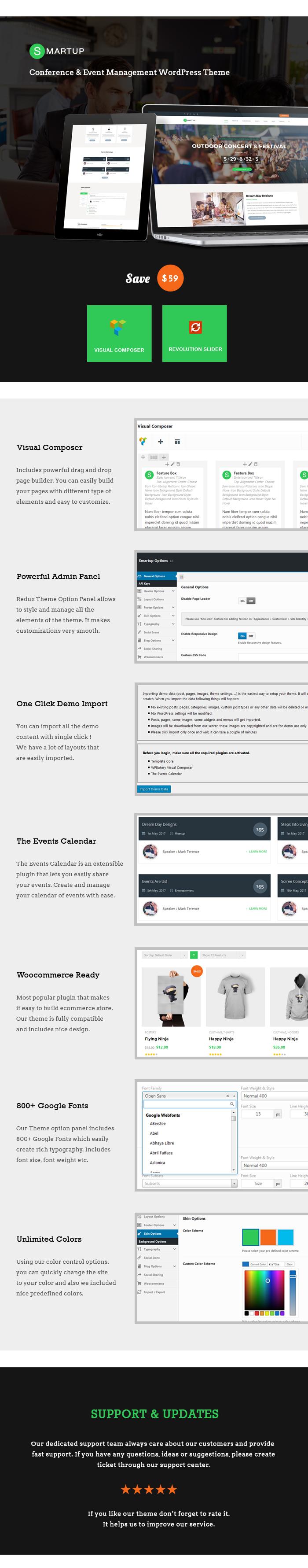 Smart Up - Konferenz- und Veranstaltungsmanagement WordPress Layout