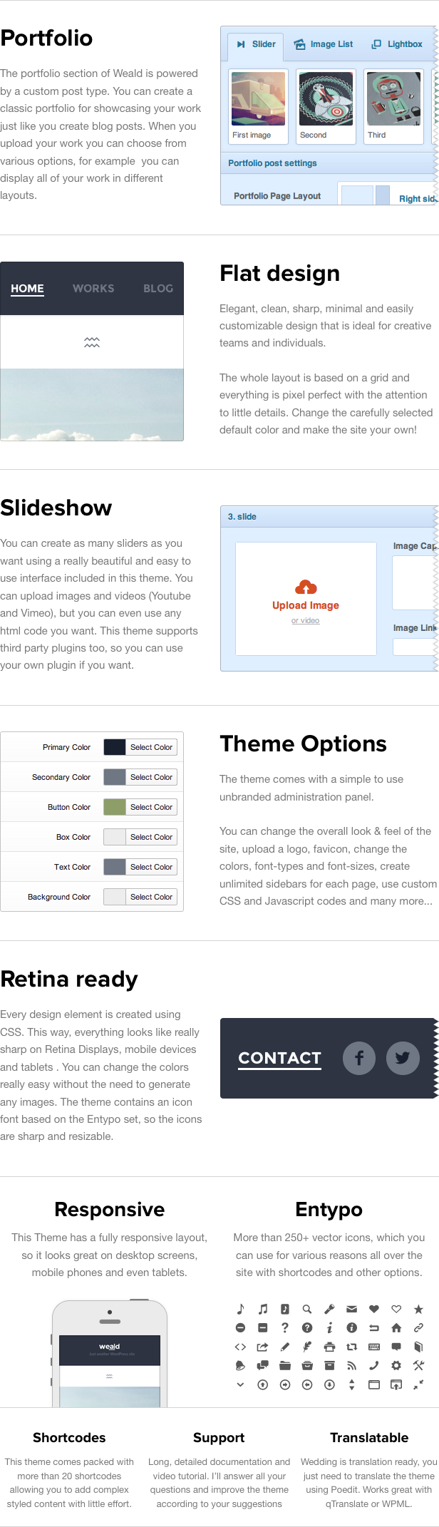 Weald - Flat Responsive Portfolio WordPress Thema
