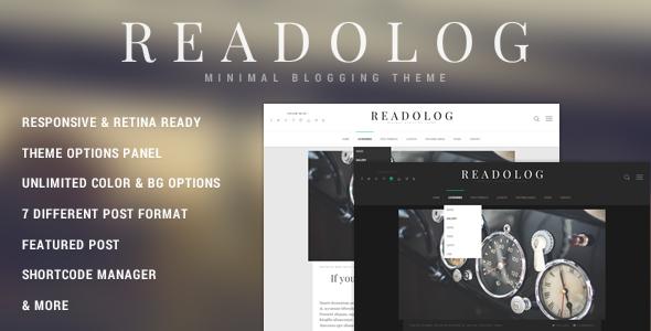 Readolog - Minimales Blogging-Thema