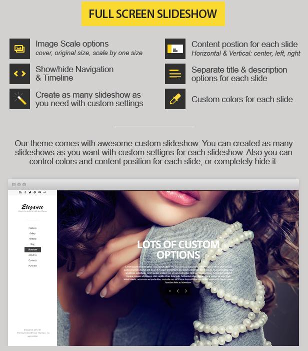 Eleganz - Responsive Portfolio WordPress Vorlage