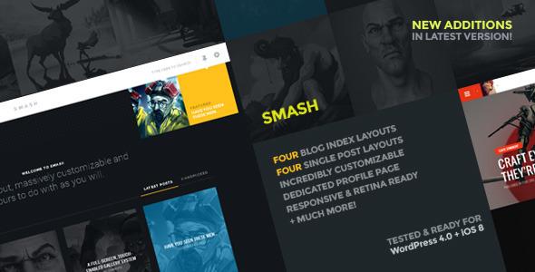 Smash: Ein persönliches Layout mit mehreren Layouts für WordPress