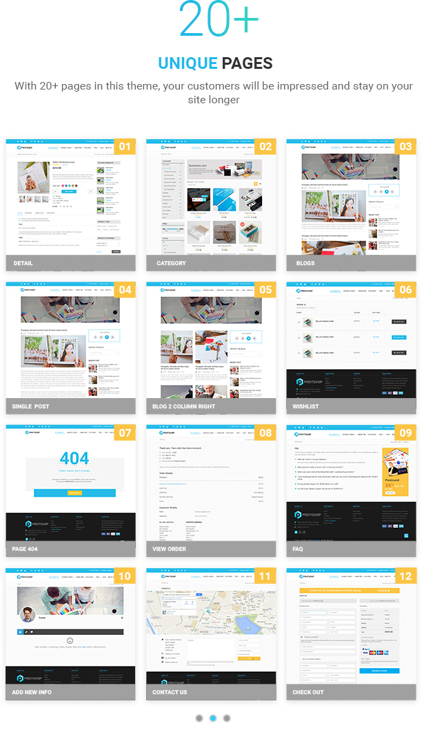 Druckerei - WordPress Responsive Printing Layout